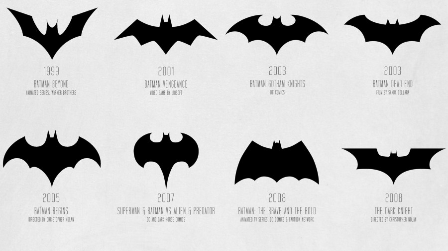 1671493 poster 1920 infographic the evolution of the batman logo from 1940 to today1